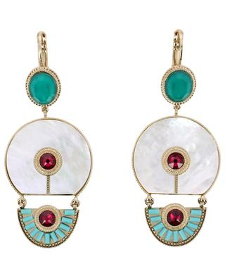Fujita mother-of-pearl earrings SATELLITE