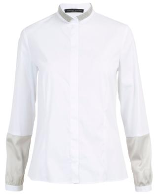 Wing collar shirt with satin and tulle detail FABIANA FILIPPI