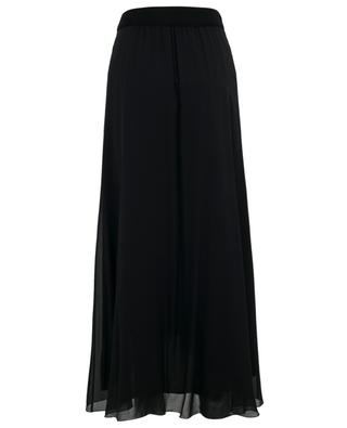 Long asymmetrical silk skirt with cashmere detail FABIANA FILIPPI