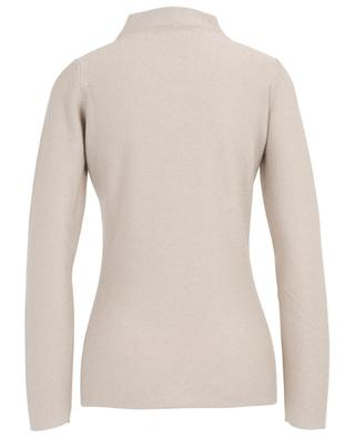 Mock collar lamé jumper embroidered with beads FABIANA FILIPPI
