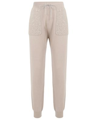 Sequin embroidered knit jogging trousers FABIANA FILIPPI