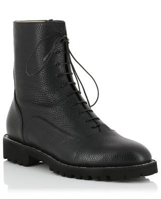 Ludovica grained leather lace-up booties FABIANA FILIPPI