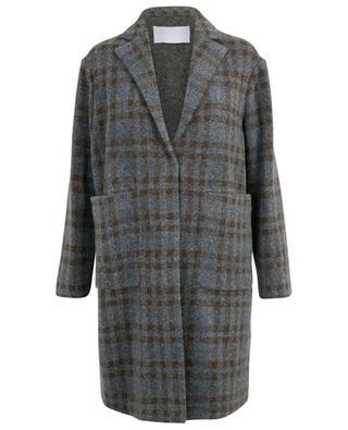 Bouclé texture straight checked coat FABIANA FILIPPI