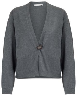 Cropped cotton and silk cardigan FABIANA FILIPPI
