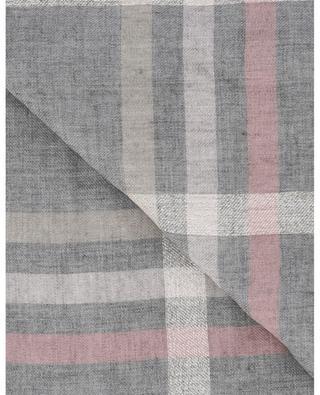 Sparkling check pattern lightweight scarf FABIANA FILIPPI