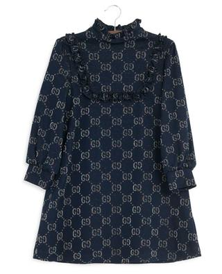 GG Lamé glittering ruffled dress GUCCI
