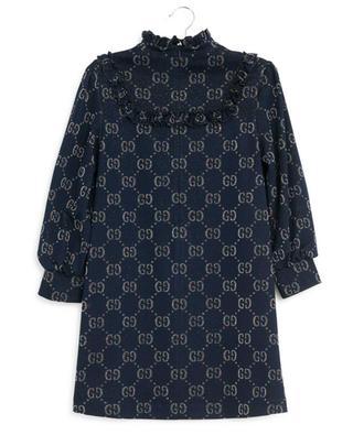 Glitzerndes Kleid mit Rüschen GG Lamé GUCCI