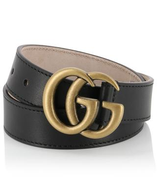 GG buckle leather belt GUCCI