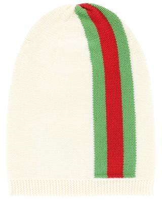Mütze aus Wolle Web Band GUCCI