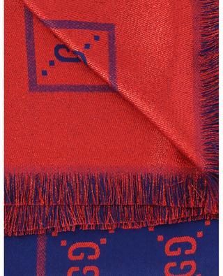 Écharpe en coton, laine et soie logo GG GUCCI