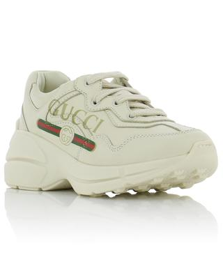 Rython children's logo leather sneakers GUCCI