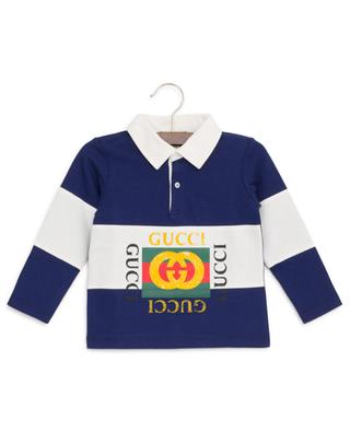 Gucci Vintage striped baby polo shirt with long sleeves GUCCI