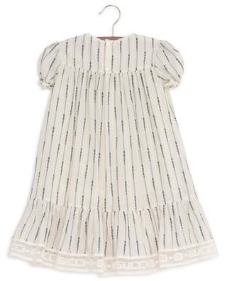 Gucci Jacquard Stripe dress with heart patch GUCCI
