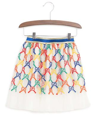 GG Rainbow embroidered tulle skirt GUCCI