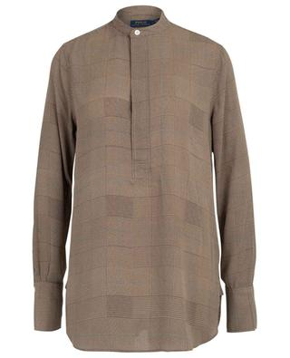 Crêpe blouse with glen check design POLO RALPH LAUREN