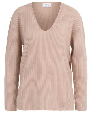 Rib knit V-neck jumper ALLUDE