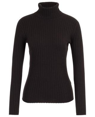 Rib knit turtleneck sheath  jumper ALLUDE