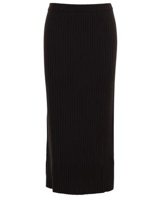 Fitted rib knit skirt ALLUDE