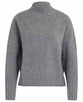 Loose mock collar jumper in wool and cashmere ALLUDE