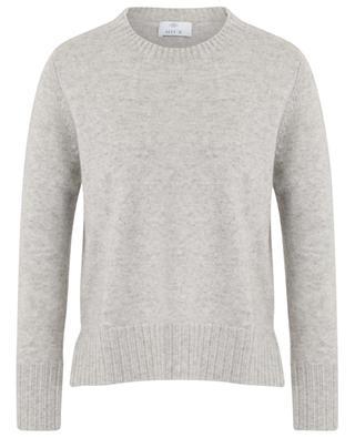 Short relaxed mottled knit jumper ALLUDE