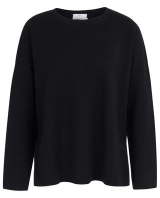 Fine virgin wool jumper with side slits ALLUDE
