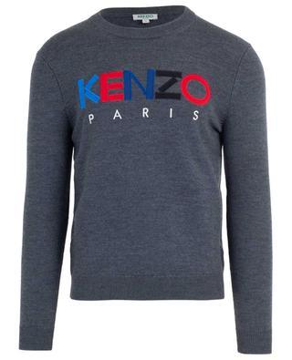 Kenzo Paris logo embroidered crew neck jumper KENZO