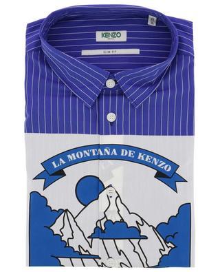 Gestreiftes Slim-Fit-Hemd Artwork Kenzo Mountain KENZO