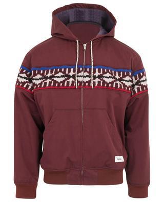 Veste légère à capuche en coton et laine imprimés KENZO