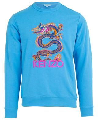 Sweat-shirt en coton dragon brodé KENZO