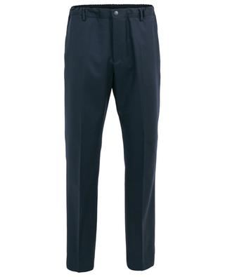 Logo embroidered slim fit wool trousers KENZO