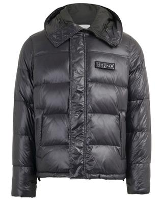 Quilted down jacket with hood and removable patch KENZO