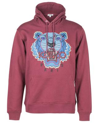 Hiking Tiger cross stitch hooded sweatshirt KENZO