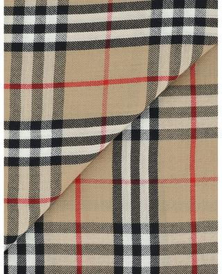 Vintage Check logo embroidered lightweight cashmere scarf BURBERRY
