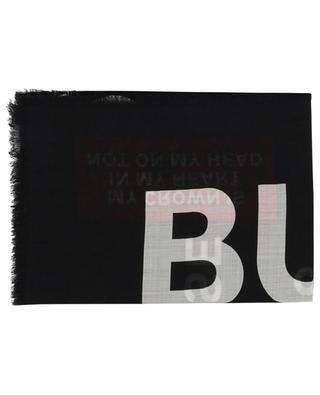 Text Gauze printed scarf BURBERRY