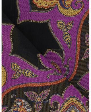 Crinkle-Schal mit Jacquard-Paisleymotiven ETRO