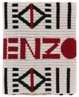 Peruvian Story multicolour rib knit scarf KENZO
