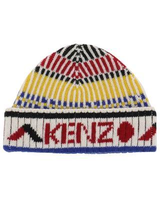 Bonnet côtelé multicolore Peruvian Story KENZO