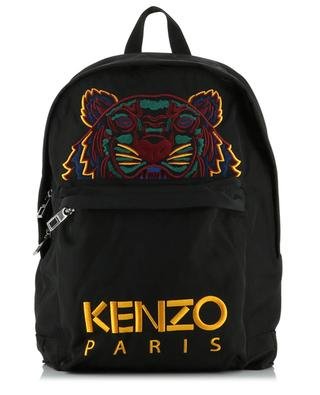 Multicolour Tiger large embroidered nylon backpack KENZO