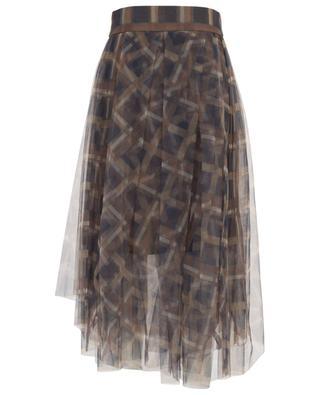 Asymmetrischer Tüllrock mit Karoprint BRUNELLO CUCINELLI