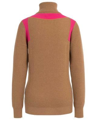 Contrast Panel ribbed oversize cashmere jumper VICTORIA BECKHAM