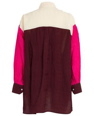 Colour Block textured oversize shirt VICTORIA BECKHAM