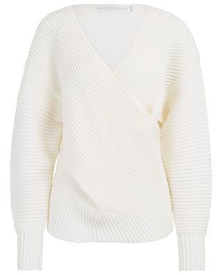 Textured V-neck wool jumper VICTORIA BY VICTORIA BECKHAM