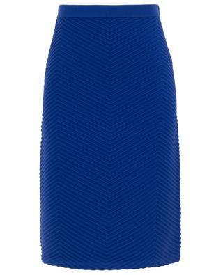 Chevron pattern wool midi skirt VICTORIA BY VICTORIA BECKHAM