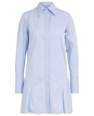Striped A-line shirt dress with peplum VICTORIA BY VICTORIA BECKHAM