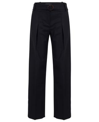 Wool blend wide-leg trousers with side stripes VICTORIA BY VICTORIA BECKHAM