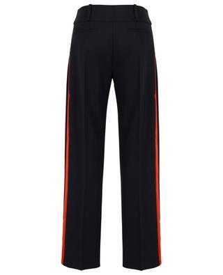 Pantalon large en laine mélangée à rayures latérales VICTORIA BY VICTORIA BECKHAM
