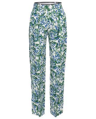 Pantalon large fleuri esprit pyjama VICTORIA BY VICTORIA BECKHAM