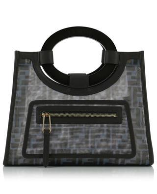 Shopper aus Mesh mit FF-Print Runaway Small FENDI