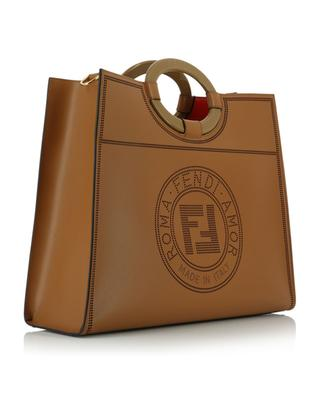 Shopper aus Leder mit Fendi Stamp Runaway Medium FENDI
