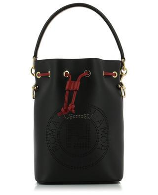 Mon Trésor perforated Fendi Stamp leather bucket bag FENDI